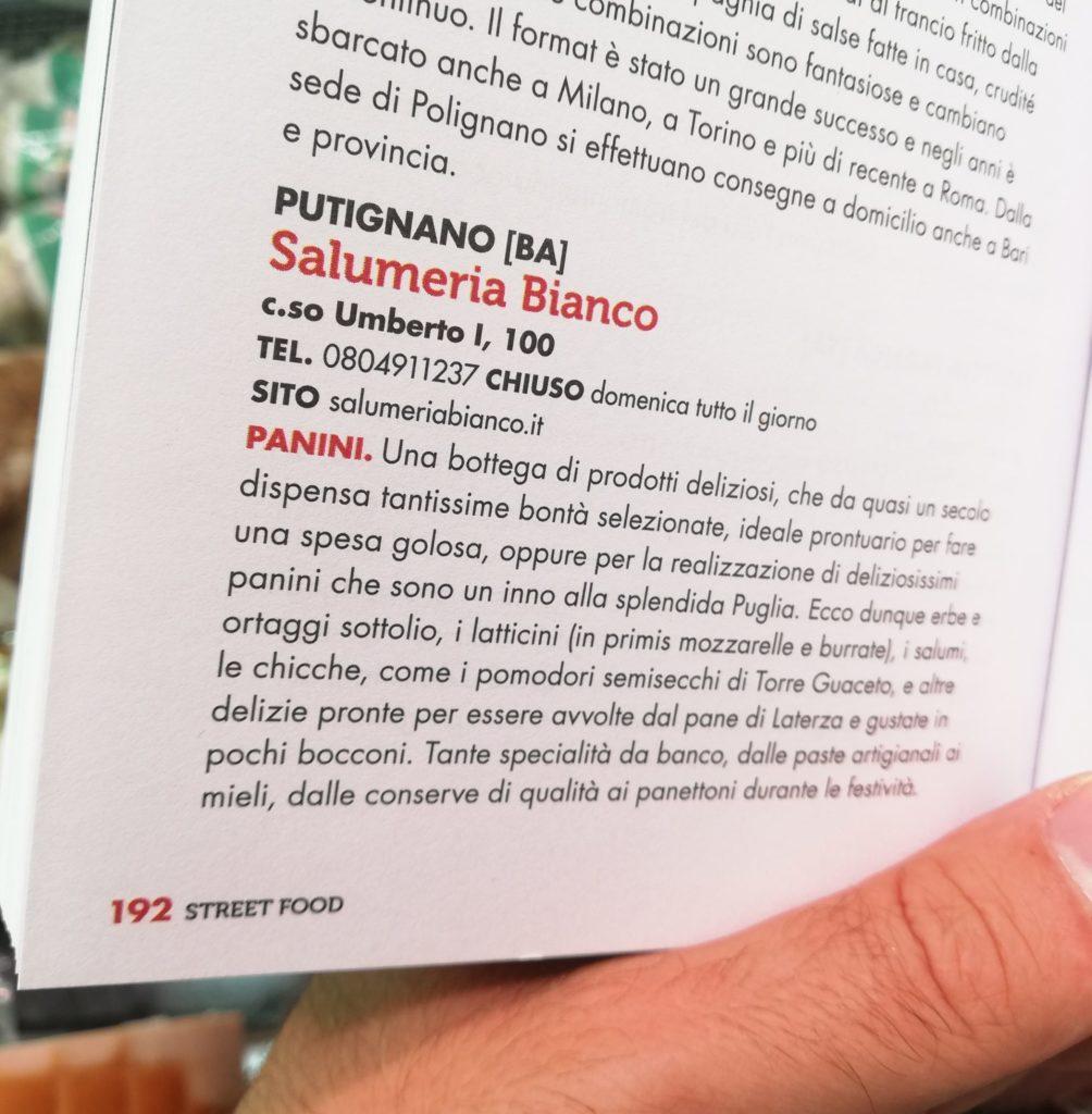 "Recensione Salumeria Bianco - ""Street Food 2021"" - Gambero Rosso"